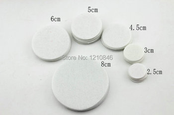 White Color Circles Felt Pads for Flower Round Felt Patches DIY Fake Fabric Flower Flatback Accessories 500pcs